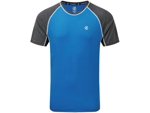 Dare 2b Conflux Wollen T-shirt Heren, athletic blue/ebony grey marl/black